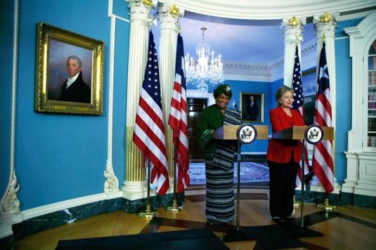 President Sirleaf/Sec. Clinton