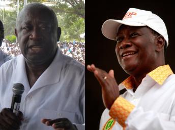 L-R: Gbagbo, Quattara
