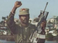 Ex-Warlord Prince Johnson in Monrovia after his INPFL took the city
